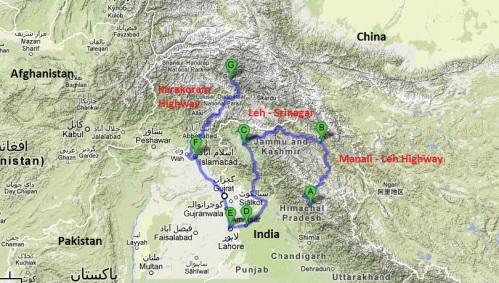 Itinerary Map 1