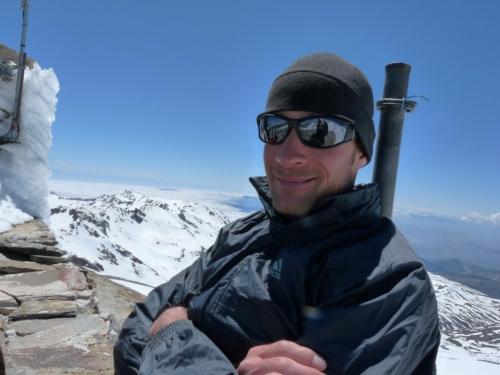 Marc, enjoying the summit.