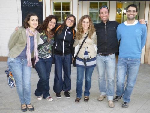 Marc´s valiant English students! One last tapa in Granada...Marc will miss them!