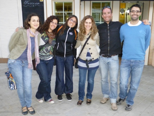 Marc´s valiant English students! One last tapa in Granada...Marc will miss them!