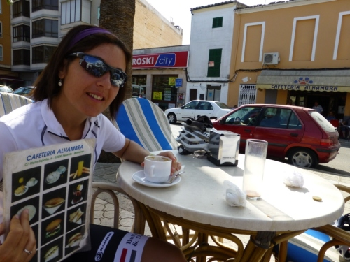 Of course, there is always time for a quick refueling. Here is Elsa, feeling nostalgic about her days in Granada...