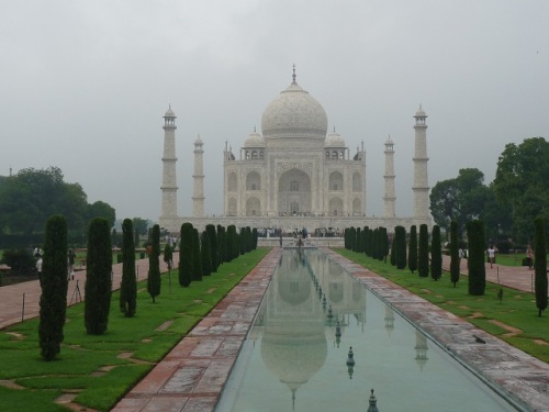 Ah, the Taj Mahal. More rain. Nice building. Guy built it to bury his wife. Maybe it was her beauty...or the 14 children she bore him. Crazy.