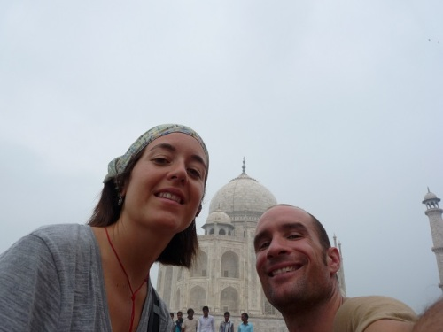 More Taj Mahal. We had to get at least one pic!