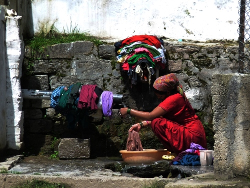 Indian way of washing, Not that different.